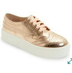 Dilys platform leather derby sneakers